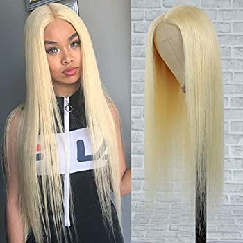 YUONSEE 613 Blonde Lace Front Wig Human Hair 26  13x1 Middle Part Lace Wig with Baby Hair 9A Brazilian Straight Blonde Human Hair Wigs for Black Women 150% Density