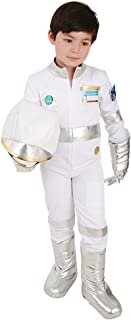 Kids Astronaut White Halloween Jumpsuit Costume with Gloves Shoes Cover