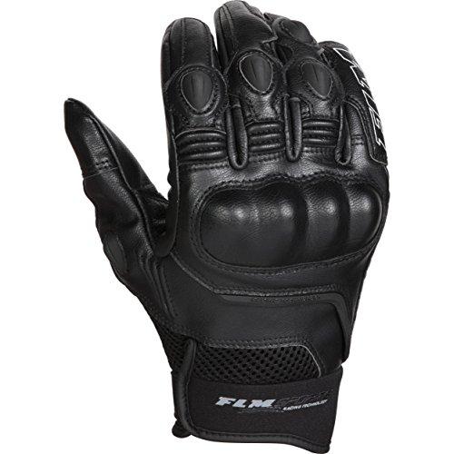 FLM Motorradhandschuhe kurz Motorrad Handschuh Sports Lederhandschuh 5.0 schwarz 9, Herren, Sportler, Sommer