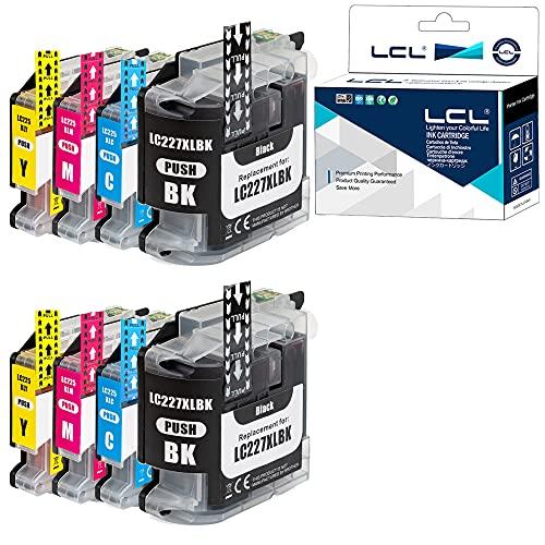 LCL LC227XL LC225XL LC227 LC225 LC227XLBK LC225XLC LC225XLM LC225XLY Cartucho de Tinta Compatible para Brother MFC-J4420DW MFC-J4620DW MFC-J4625DW DCP-J4120DW (4Pack, 1Negro 1Cian 1Magenta 1Amarillo)