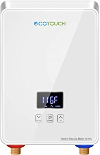 ECOTOUCH Electric Tankless Water Heater, Point-of-Use Hot Water Heater Digital Display..