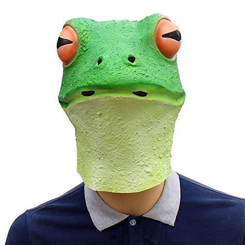 IENPAJNEPQN Divertidas máscaras de Forma de Cabeza de Rana