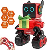 HBUDS Remote Control Robot, Kids Interactive Robot, Touch & Sound Control, Plays Music, Built-in Money Box, programmable and Rechargeable RC Robot kit (rot)