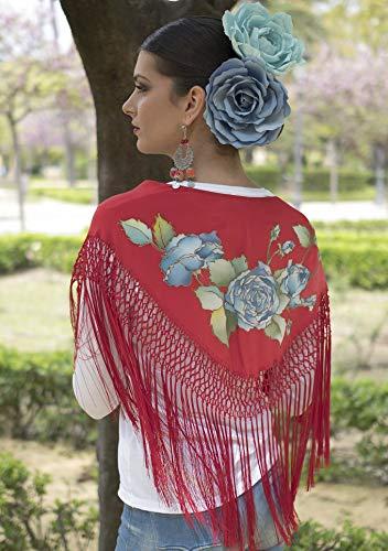 Mantoncillo de flamenca color rojo 😍