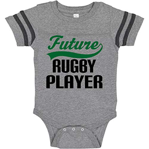 inktastic Future Rugby Player Infant Creeper Newborn Football Heather and Smoke