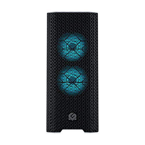 MTALLICGAR MetallicGear Neo Air ATX Mid-Tower High Airflow Mesh Front Design, 2X 120 RGB Skiron Fans, RGB Controller, Black/White
