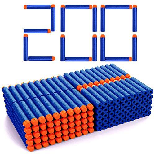Astory Eva Blue Foam Darts, 7,2 cm 200 PCS Nachfüllschaum Bullet Darts Kompatibel mit Nerf Guns N-Strike Elite Series Blasters Kinderspielzeugpistole für Zielspiele (Blau - 200 Stück)
