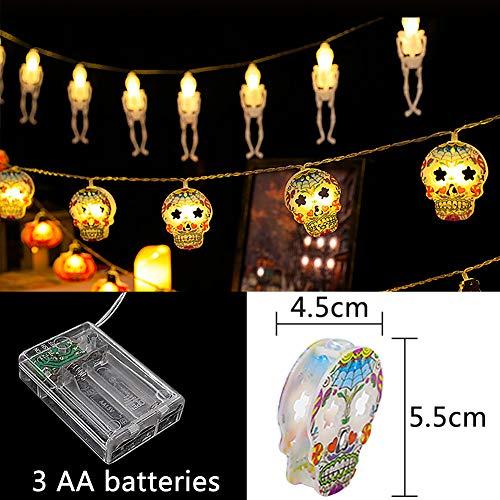 Esterno Halloween Decorazione BESTZY Decorazioni Giardino per Esterno Natale Feste Camera Letto (Testa Fantasma Cranio 2 Metri)