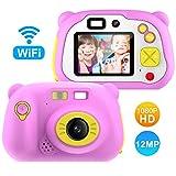 CÁMARA DE FOTOS DIGITAL PARA NIÑOS con WIFI - tarjeta 16GB - Azul o Rosa- Lightswing