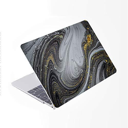 SDH Solo compatible para MacBook Pro de 13 pulgadas modelo A1278 CD-ROM a principios de 2012-2008,patrón de plástico y funda para portátil y cubierta de teclado degradado, figura de mármol 4