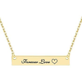 Dreamdecor Custom Bar Necklace Engraved