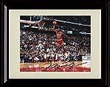 Framed Michael Jordan Dunk Contest Autograph Replica Print - Chicago Bulls