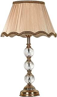 LI@ European Style Modern Concise K9 Crystal Table Lamp Color 9,E27 Home Decorative Lights (Color : Brown, Size : 30cmX58cm)