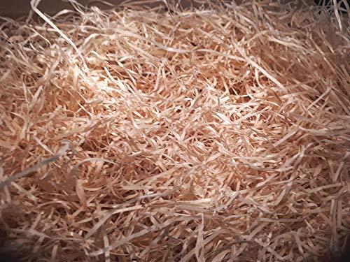 Premium Holzwolle unbehandelt 100% ökologisch Füllmaterial Einstreu Deko Verpackung, 1 KG