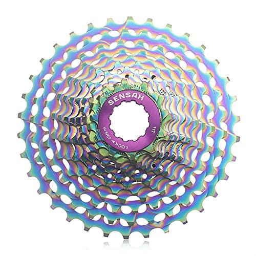 YOBAIH Rueda Libre 12S CNC Bike Bike 12 Velocidad 11-32 / 34T Cassette de Bicicleta Grava Bike Ultralight Freewheel 11-28T Flywheel 12 Sprocket (Color : 12S 32T Colorful)