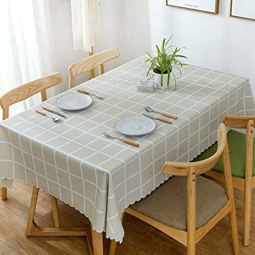 JLYZB 100% waterdicht Pvc tafelkleed, rechthoek Oblong tafelkleed Olie-proof Keuken Eettafelblad Decoratie Protector Tafelkleed - een 120x160cm (47x63inch)