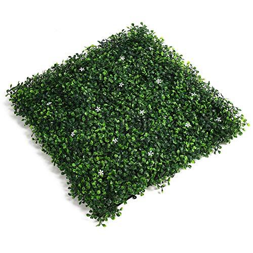 Decdeal Artificielle Tuiles en Herbe, Le Gazon Artificiel,Gazon Synthétique Artificiel, Tapis Auto-drainant Fausse Herbe pour Balcon Extérieur Paysage Intérieur