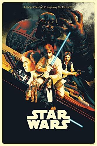 Star Wars Episodio IV New Hope 13 – Póster de la película – Mejor reproducción artística de calidad para decoración de pared, Canvas A0