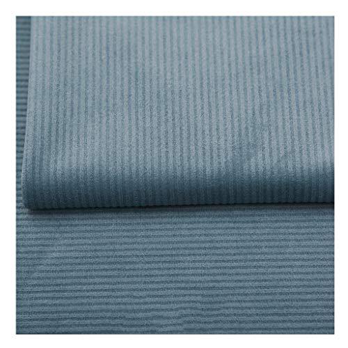 NAKAN Blu Tessuto in Velluto a Righe al Metro Tessuto da Tappezzeria in Velluto di Poliestere 150x100cm per Hobby Cucito Creativi, Coprisedile per Divano(Color:Grayish blue22)