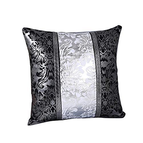 Xinjieda ZXR.Elwood Estampado de Flores Caja de la Almohadilla del sofá Throw Almohada Cubierta Pillowslip de Contraste de Color Almohada Decoración