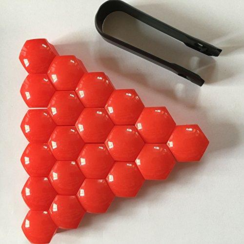 SP-Auto Lot de 20 Capuchons de boulons de Roue en Plastique de 19 mm pour écrous et Outil de démontage de Roue de Voiture Universel.