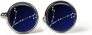 plaqu/é argent Photo Constellation-SCORPIO Scorpion-Signe astrologique Zodiaque Zodiac-ciel en verre Boutons de manchette Art Print