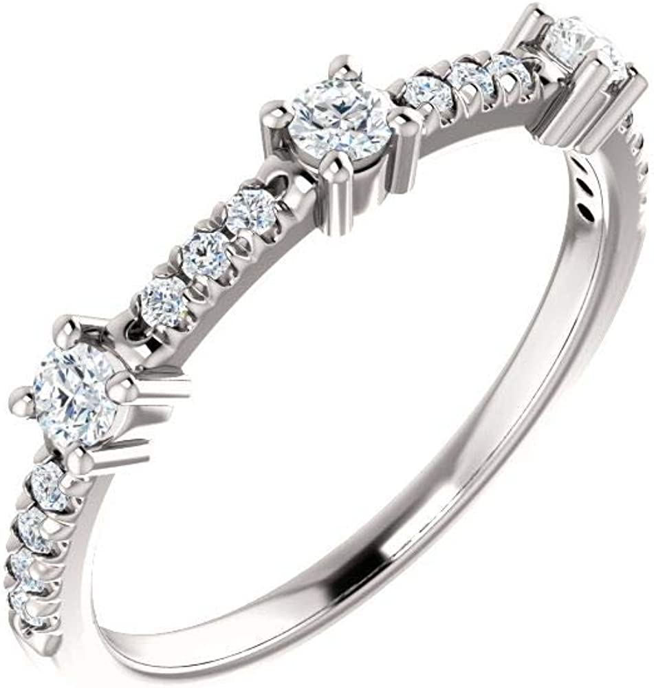 14K White Gold 1 New York Mall 3 Los Angeles Mall ct Diamond Women for Si Ring Anniversary Band