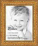 ArtToFrames WOM80801-GLD-10x13 Barnwood Wood Picture Frame, 10 x 13, Gold
