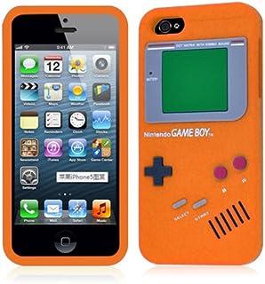 iPhone 5 retro spel pojke design orange silikonfodral skydd + gratis skärmskydd - en del av Fab mobiltelefon tillbehör utbud
