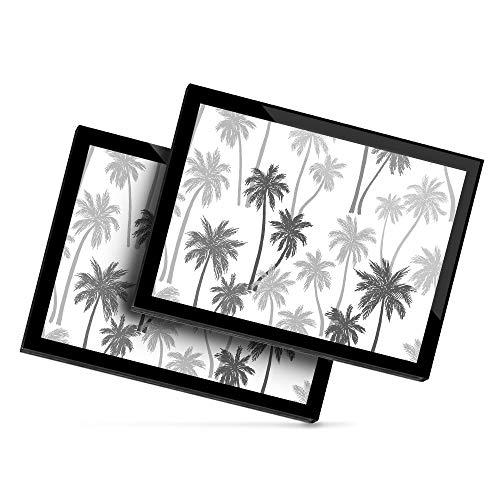 Destination 40851 - Mantel individual de vinilo, 20 x 25 cm, diseño de palmeras para vacaciones en la playa y surf, color blanco