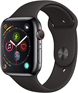 AppleWatch Series4 (GPS+Cellular, 44mm) - Space Black Stainless Steel Case with Black Sport Band