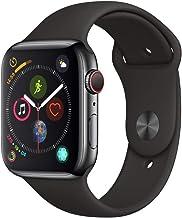 AppleWatch Series4 (GPS+Cellular) con caja de 44mm de acero inoxidable en negro espacial y correa deportiva negra