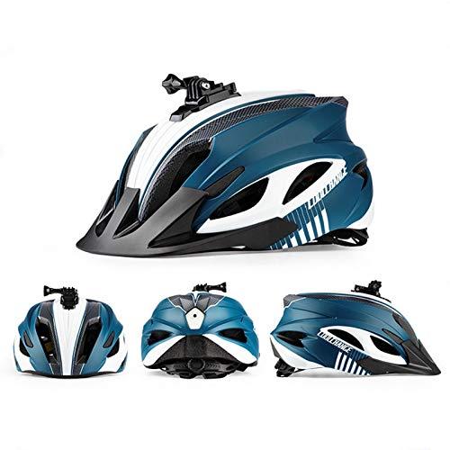 A-A 1 Stück Fahrradhelm, MTB Mountainbike Helm, Mit Abnehmbarem Visier Kopfumfang 58-62 cm, Installieren Action Action-Kamera Taschenlampe, Rennradhelm Für Herren Damen