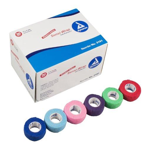 "Dynarex Sensi Wrap, Self-Adherent 1"" x 5 yds Rainbow (5/color) 30/Cs"