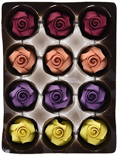 Günthart Essbare große Feinzucker Rosen in unterschiedlichen Farben, farbig sortiert, 1er Pack (1...