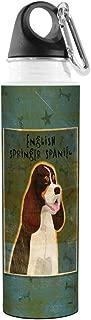 Tree-Free Greetings VB48013 John W. Golden Artful Traveler Stainless Steel Water Bottle, 18-Ounce, Tri-Color English Springer Spaniel