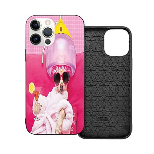 Compatible con iPhone 12 Pro Max 6.7 pulgadas, Riches and Honour Chihuahua Dog Relajante y Mentira, suave, antideslizante, a prueba de golpes