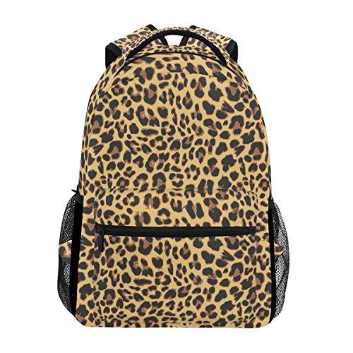 COOSUN Leopardo del diseño del modelo casual Mochila Mochila Escolar bolsa de viaje Multicolor