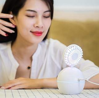 HUYHUY Humidificador Ultrasónico De Niebla Fría con Capacidad De Ventilador USB Portátil De 130 Ml con 7 Colores Pequeñas Luces Nocturnas De Oficina Personal