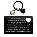Engraved Wallet Insert Card Long Distance Couple Valentine's Day Gifts Distance Means So Little Keychain Deployment Gift for Him Her Going Away Gift Military Gift Boyfriend Anniversary Wedding Gift
