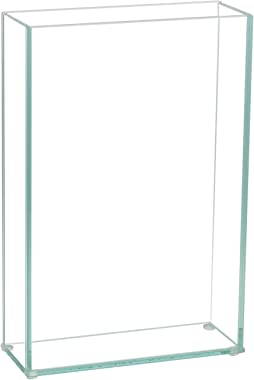 "Royal Imports Flower Glass Vase Decorative Centerpiece for Home or Wedding Flat Rectangle Plate Glass, 8"" W x 12"" H, Clear"