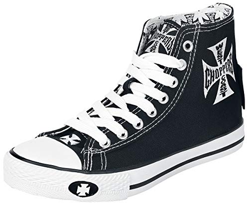 WEST COAST CHOPPERS Iron Cross Männer Sneaker high schwarz/weiß EU45