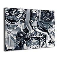 壁キャンバス アートワーク 30 * 40 Cm 車のエンジン Car Engines ポスター おしゃれ インテリア 壁掛け フォトフレーム おしゃれ インテリアアート 装飾画 キャンバスアート アート油画 パネル ャンバス 背景絵画