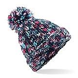 Beechfield torcitore Pompon Berretto-Casuale/Elegante Inverno Cappello Colori - Candy Twist