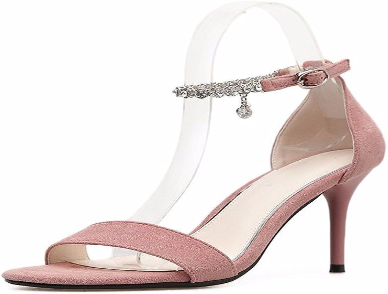 HBDLH-Damenschuhe Sommer Damenschuhe Drill Ein Paar Sandalen T 9Cm Hochhackigen Schuhe Dünn und Oberflächlich Wildlederschuhe.  | Kostengünstig