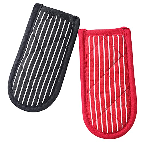 Cast Iron Skillet Handle Covers,Machine Washable Handle Mitts,Pot Holders for Kitchen Heat Resistant, Skillet Handle Cover ,2 PCS (Striped)