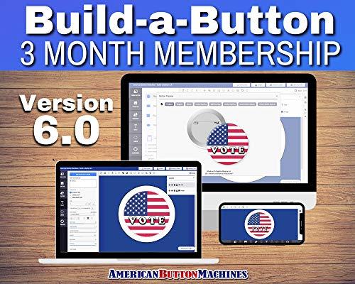 Button Maker Machine Graphic Making Design Software - 3 Month Membership