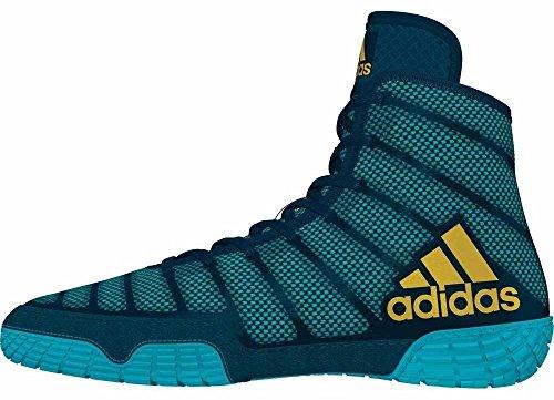 Adidas Adizero XIV-M - Zapatillas de lucha para hombre, Azul (azul, amarillo, aguamarina), 40 EU