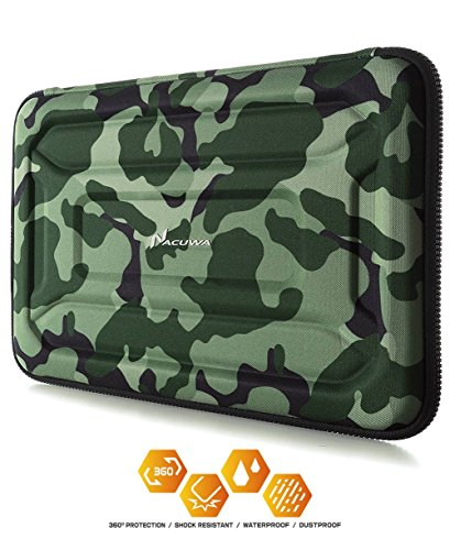 Protective Laptop Case: 13-13.3 Inch Computer Carrying Sleeve for 2018 New MacBook Air, Pro, Microsoft Surface or Chromebook - Padded, Waterproof and Shockproof Hard Lap Top Cover Cases – Camo