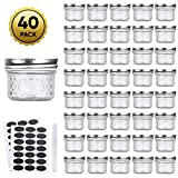 Accguan Mini Mason Jars Glass Canning Jars,4 OZ Jelly Jars With Regular...